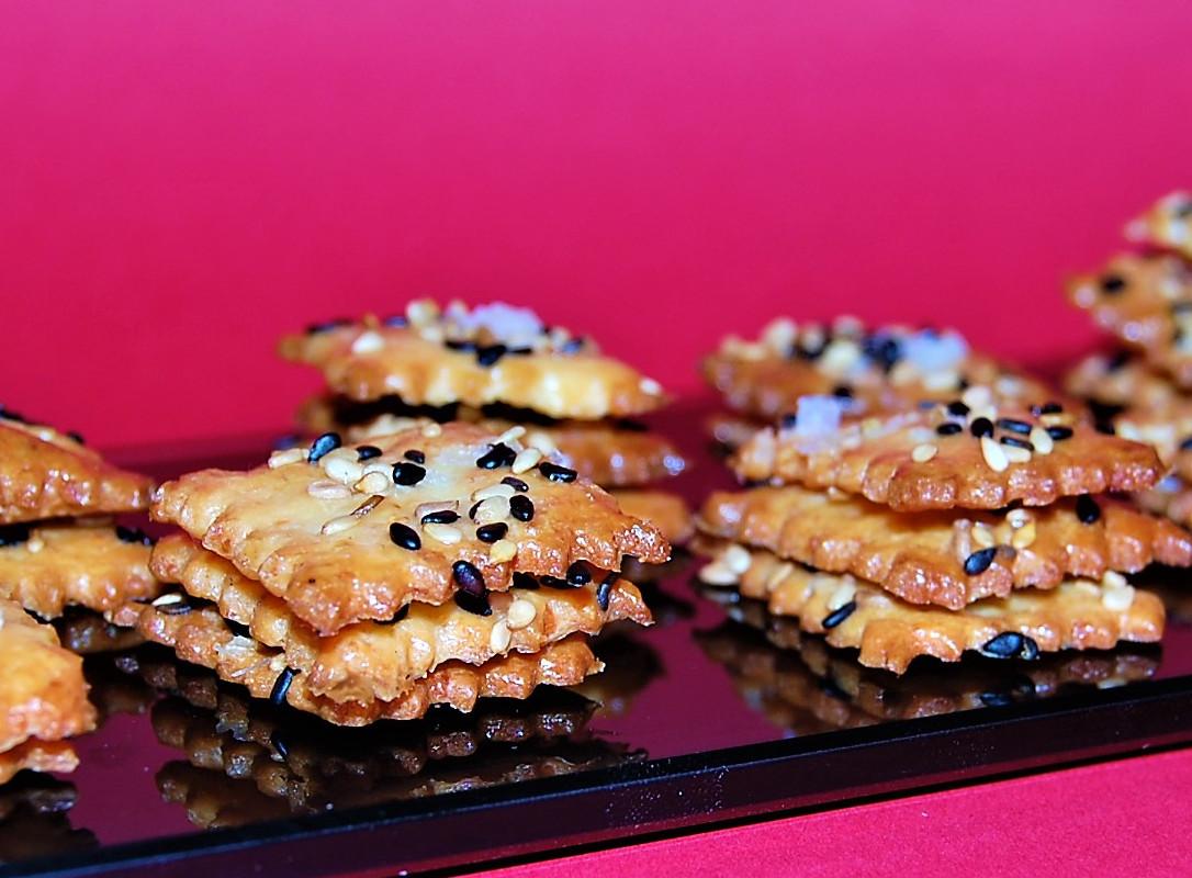 Galletitas de Sésamo y Parmesano